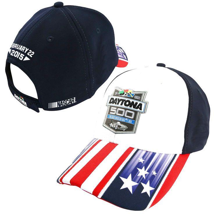 Chase Authentics 2015 Daytona 500 Patriotic Adjustable Hat – Navy Blue/White - $18.04