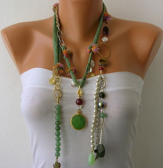 White Pearl Handmade Beaded Chains by mislady on Etsy