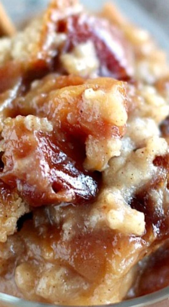 Slow Cooker Apple Pudding Cake.
