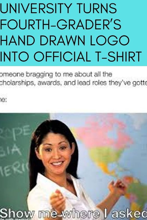 College Turns Fourth-Grader's Hand Drawn Brand Into Official T-Shirt