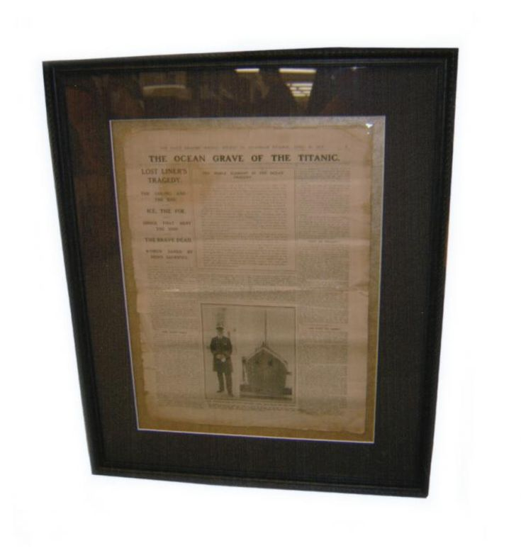 Titanic Newspaper Page | Examples | Custom Framing | Pictures Frames and More