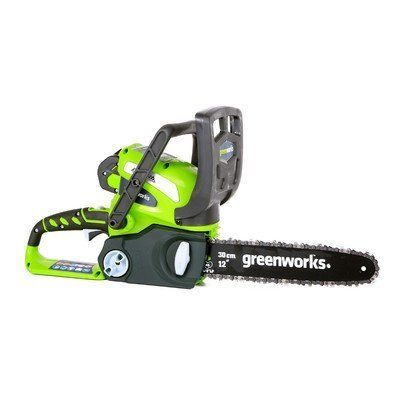 GMAX 12 40-Volt Cordless Chainsaw by GreenWorks Tools >  Includes 2ah Battery And Charger;12 Oregon Bar And Chain, Perfect For Cutting Branches And Limbs With Ease;Tool-less Chain Tensioning For Quick Adjustments So You Can Get Back To The Task At... Check more at http://farmgardensuperstore.com/product/gmax-12-40-volt-cordless-chainsaw-by-greenworks-tools/