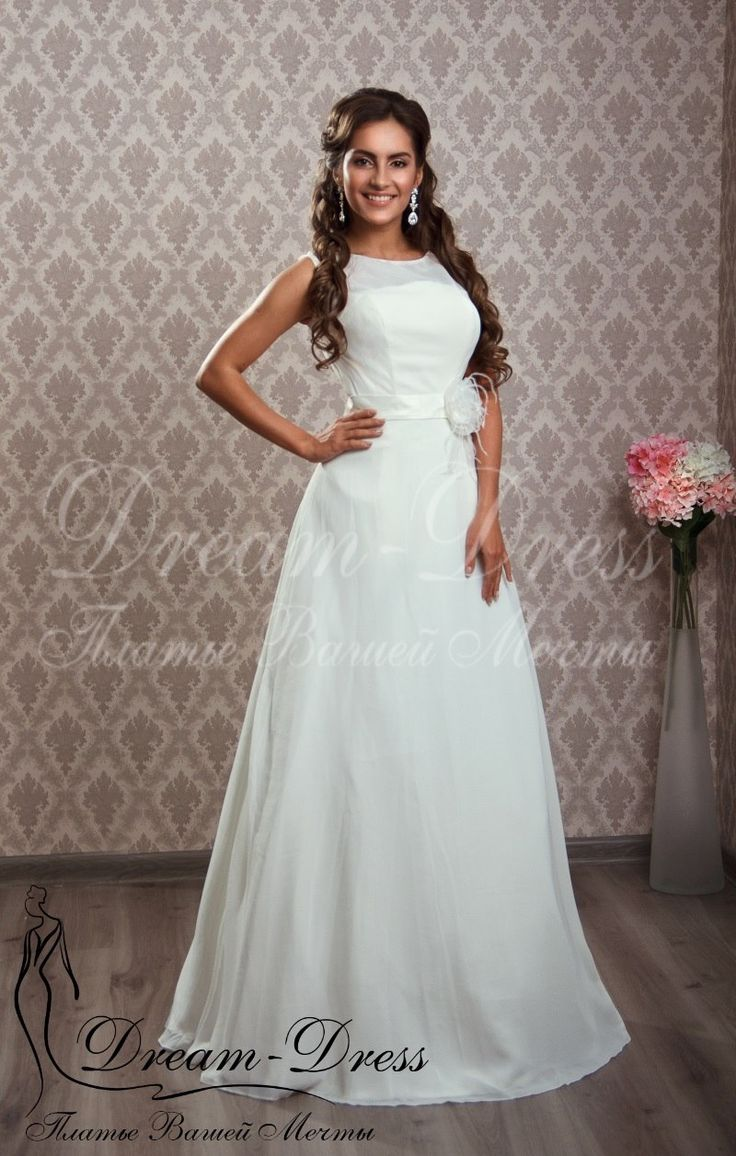 Crystal / Свадебное платье с шифоновой юбкой.  В наличии изделие в цвете белый, размер 42-44-46. На заказ возможен любой цвет и размер.