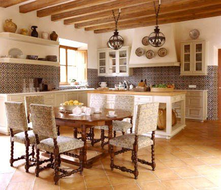 92 best spanish hacienda house style images on pinterest for Spanish style kitchen designs