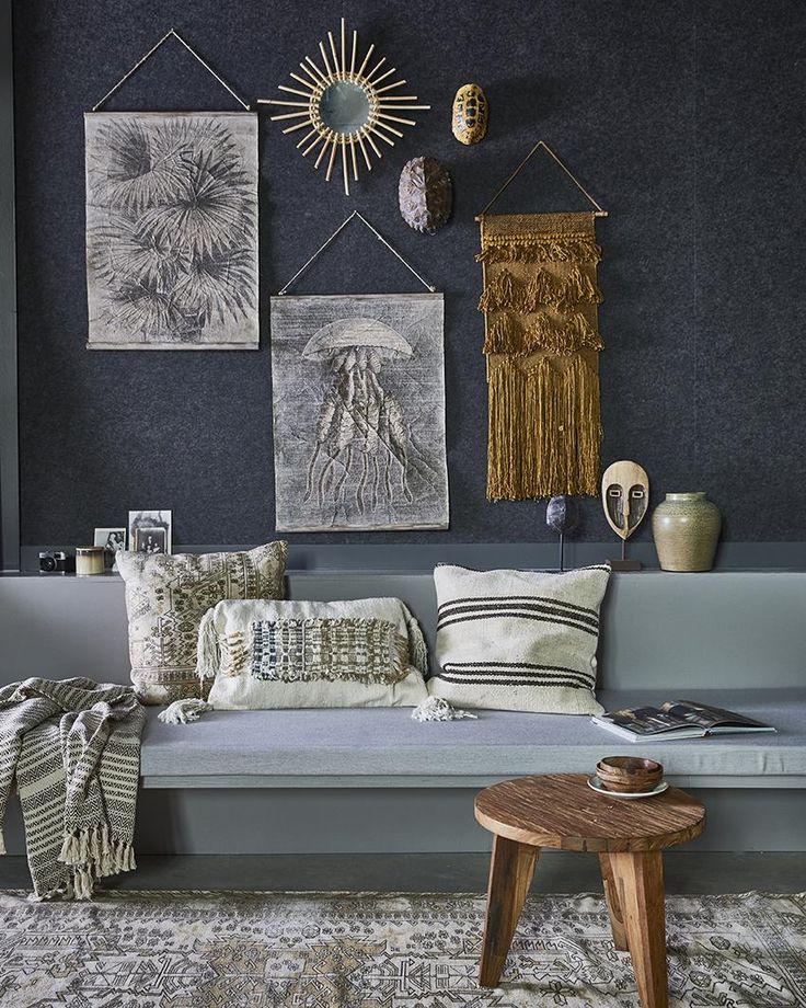 Kussen Azteeks - Multikleur - Franjes - 40 x 60 cm - HK Living