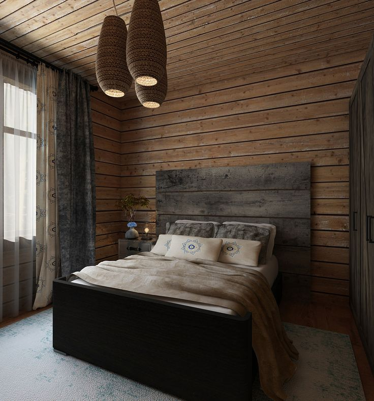 Northern house in the country. Guest bedroom. Made in a cooperation with People MA architecture and construction.