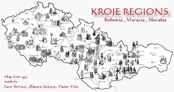 kroje regions
