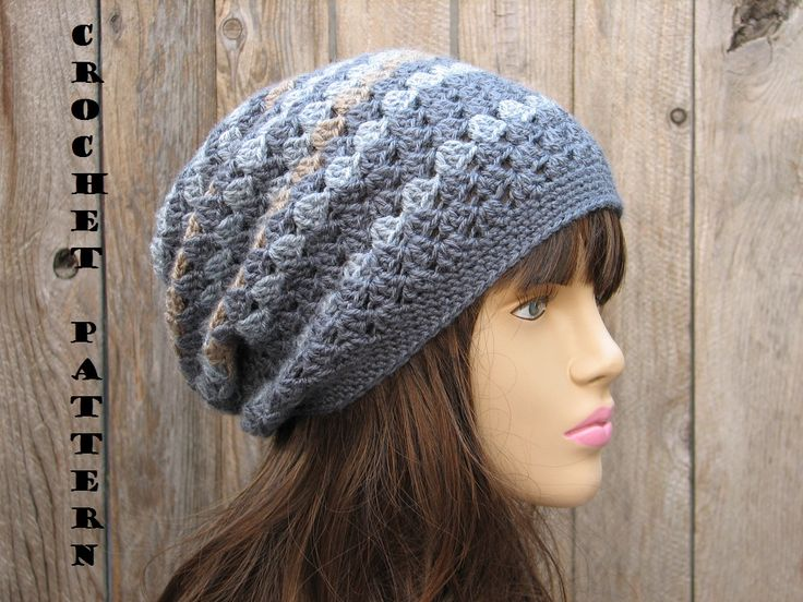 Crochet Hat Patterns Free : Hat Crochet Pattern Free Easy Crochet Patterns Slouch Hat Crochet ...