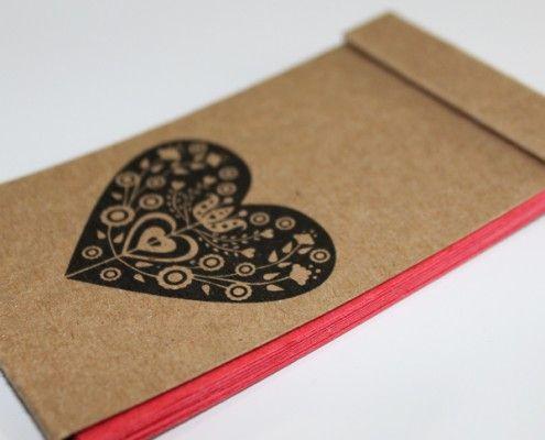 Mini libretas de colores y cartón kraft - estilo mexicano