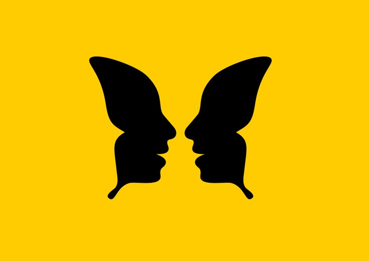 Faces / butterfly logo