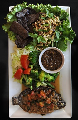 Laotian food, no passport required! At Som Bao cafe in Virginia Beach. At my blog, scroll down to Aug. 1, 2012 post