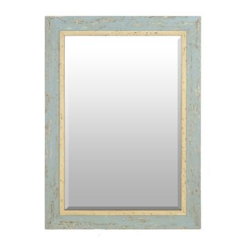 Distressed Robin's Egg Blue Framed Mirror, 31x43 | Kirklands