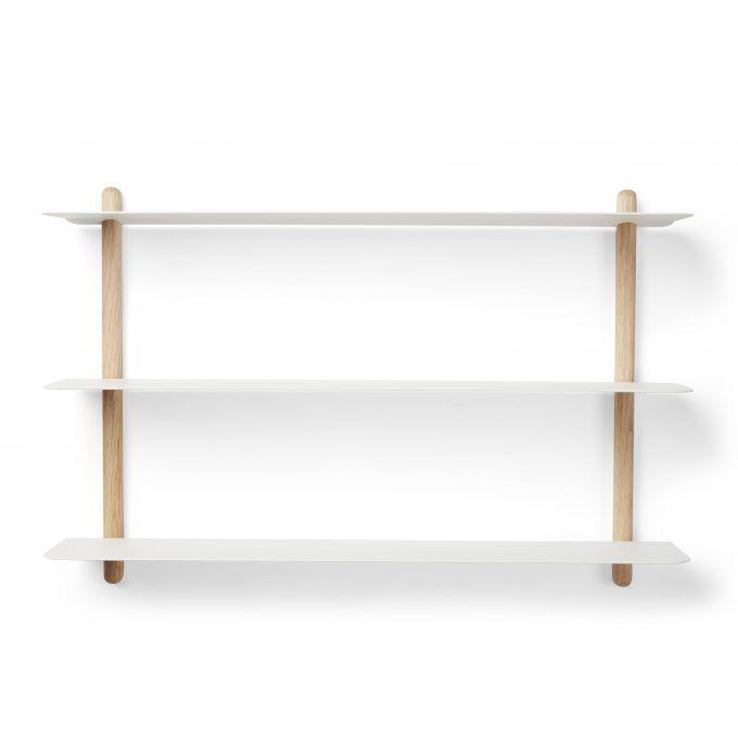 NIVO Shelf A Light Oak White • Gejst % | Wandgestaltung