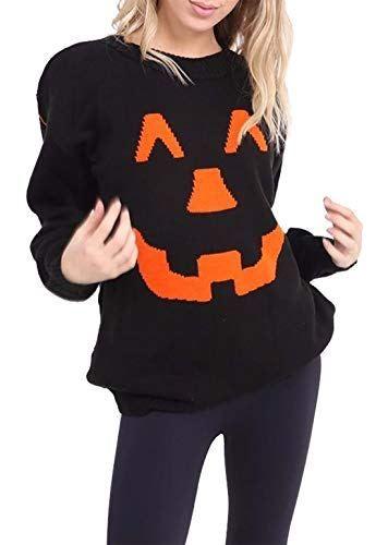 Islander Fashions Dames Halloween Citrouille Tricot Pull Hommes - air conditionne maison prix