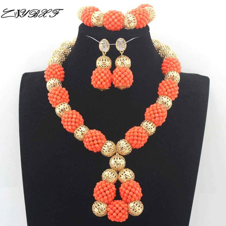 >> Click to Buy << Real Coral Pendant Orange Necklace Earrings Set Elegant Women African Coral Beads Necklace Jewelry Set Beads for Wedding L00011 #Affiliate