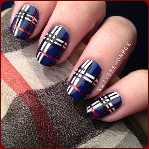 stripes design nail polish - Google Search