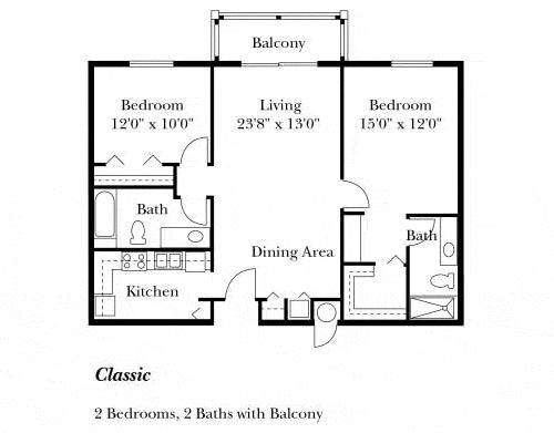82 best images about 2 bedroom floorplan on pinterest for Simple floor plan with dimensions