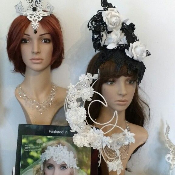 Lace headpieces by Wendy Louise for Belle Folie
