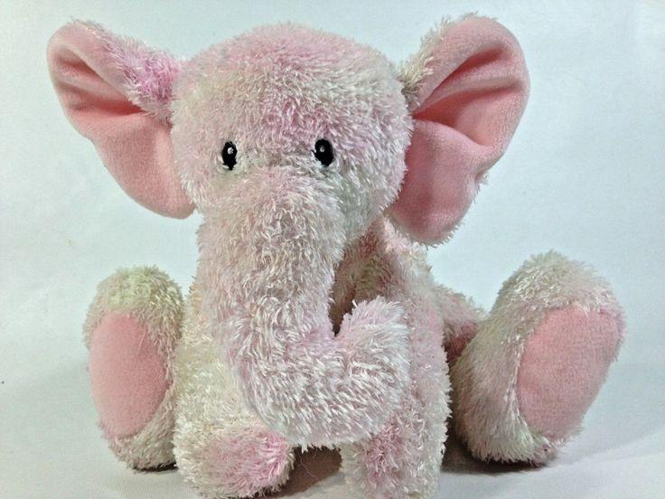 """Baby Gund Sprinkles Elephant 5824 Pink Sewn Eyes Stuffed Animal Floppy 9"""" Plush #BabyGund"""
