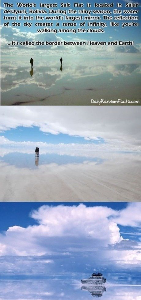 """World's Largest Natural Mirror  *""""Unravel"""" intensifies in the background*"""