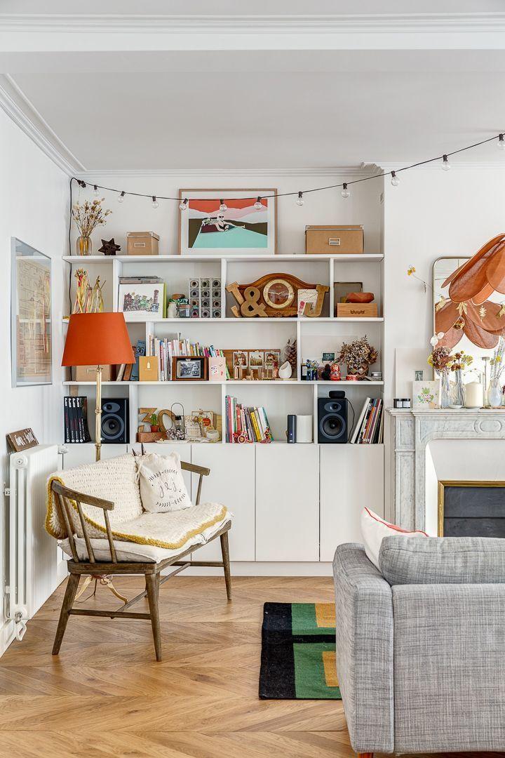Appartement Paris 11 Un Haussmannien Fraichement Modernise En 2020 Meuble De Cuisine Ikea Decoration Interieure Idee Salle A Manger