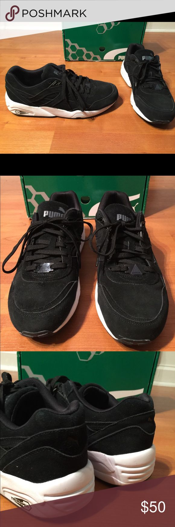 Trinomic by Puma XT 1 Plus black sneakers Worn twice Trinomic by Puma sneakers in a men's size 10. Black suede. Also available in the color blue. Great condition. Includes box. puma Shoes Sneakers