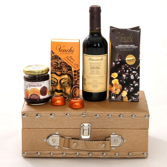 Idee Cadou exclusivist cu vin fin, ciocolata Venchi, design elegant