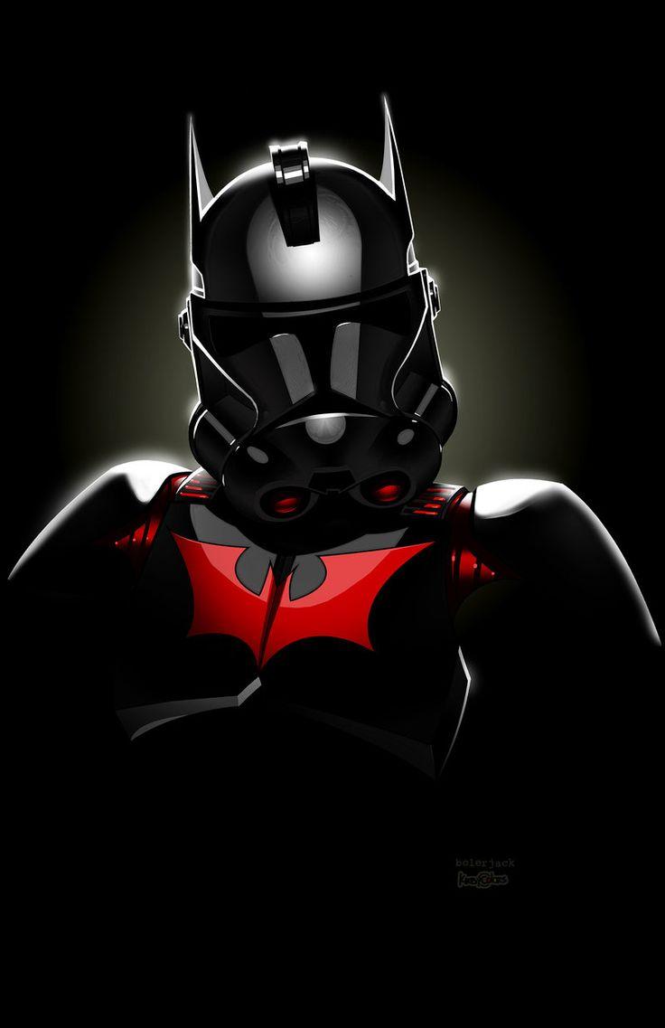 Batman Beyond Clonetrooper (Clonetrooper and Comic character mashup illustrations for Long Beach Comic Con) | By: Jon Bolerjack and JJ Kirby, via deviant ART
