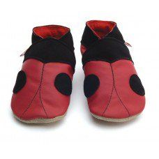 Ladybird Red Soft Leather Baby Shoes Made and supplied by Star Child Shoes in #Leicestershire - £18.00