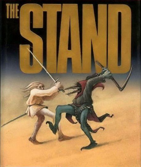 The Stand by Stephen King - This is the way the world ends: with a nanosecond of computer error in a Defense Department laboratory and a million casual contacts that form the links in a chain letter of death.  And here is the bleak new world of the day after: a world stripped of its institutions and emptied of 99 percent of its people. A world in which a handful of panicky survivors choose sides or are chosen. A world in which good rides on the frail shoulders of the 108-year-old Mother…