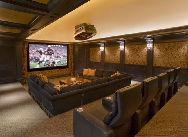 Basement Home Theater family room #basement #hometheater (basement ideas on a budget) Tags: basement ideas finished, unfinished basement ideas, baseme…