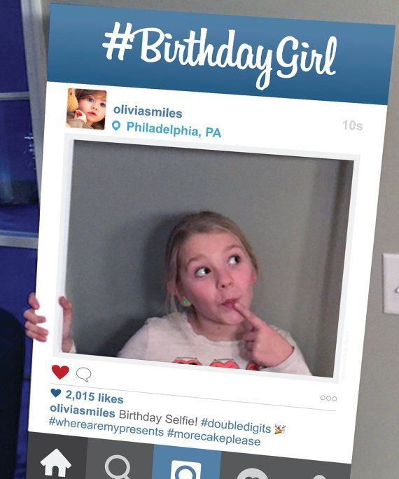 Social Media Photo Prop Frame - Photo Booth Props ...