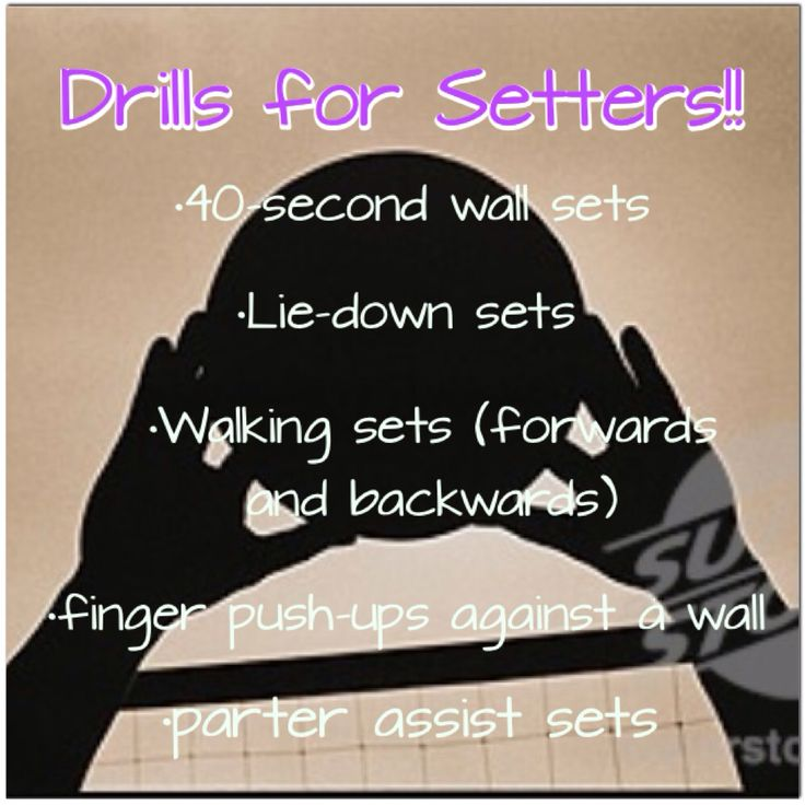 Made this for all of my fellow setters out there:) these are drills that I do a lot to help me set better! After all, without a good set, there wouldn't be a kill!!❤️