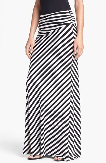 Bobeau Long Stripe Skirt | Nordstrom Use to hate skirts, as I got older I have fallen in love with them.