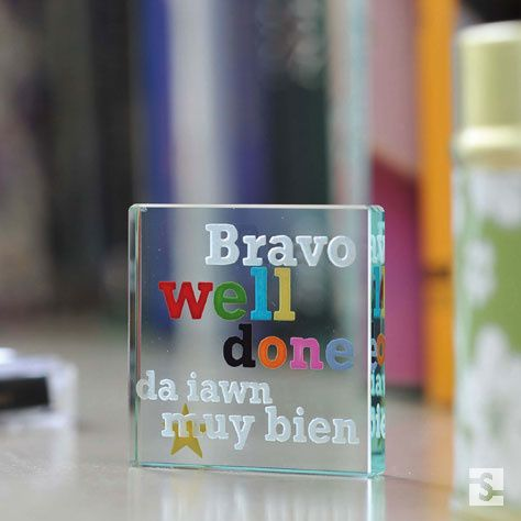 For the aspiring linguist - this gift is engraved in four languages: English, French, Welsh and Spanish. A quirky and fun way to say congrats on your graduation. #Love #Spaceform #Gift #Token #Graduation #Languages #London