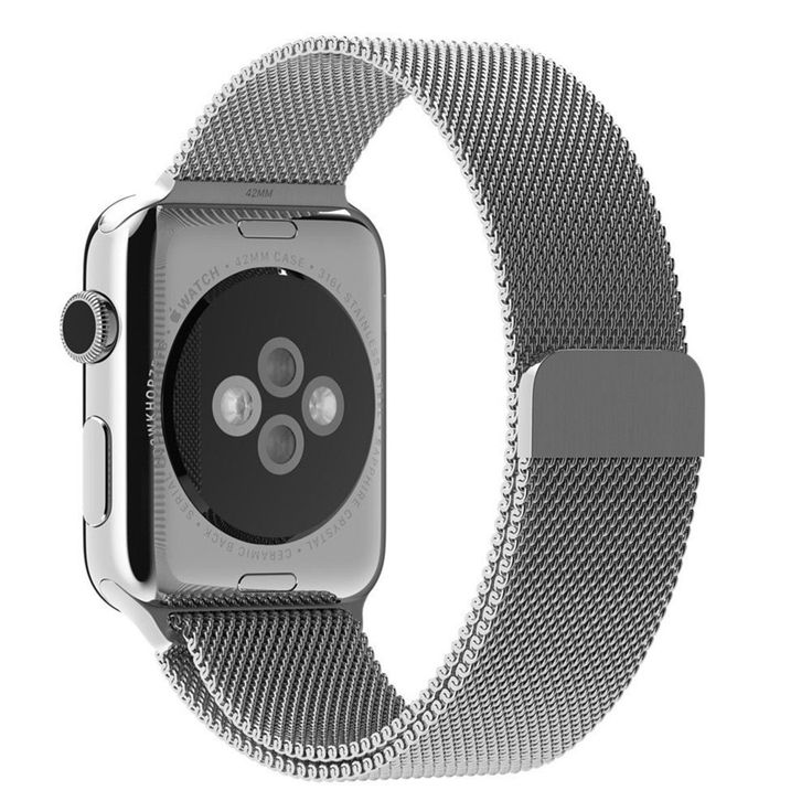 Apple Watch Band, YSH Milanese Fully Magnetic Closure Clasp Mesh Loop Stainless Steel iWatch Band Replacement Wrist Bracelet Strap for Apple Watch Sport&Edition 38MM (Silver)