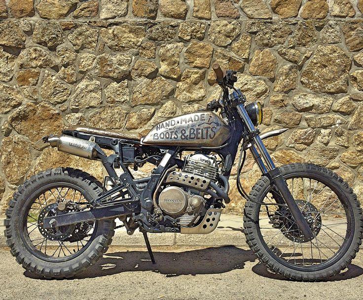 #Tracker #Scrambler #honda #motorcycle #theblackmoosecompany