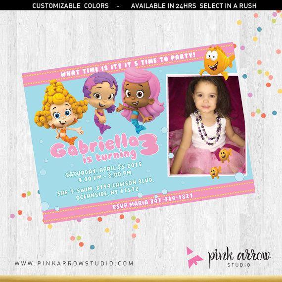 Bubble Guppies Invitation Bubble Guppies party by PinkArrowStudio