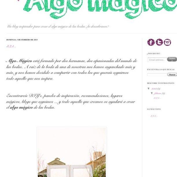 Aquí empieza todo... Nuestro primer post. www.algomagico.com