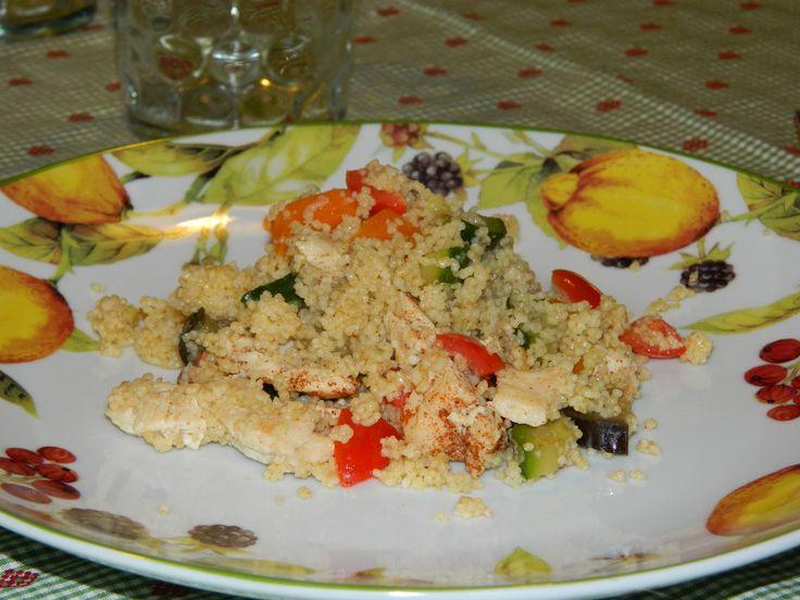 Couscous alle verdure e pollo