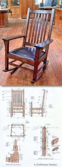 Craftsman Rocking Chair Plans - Furniture Plans and Projects | WoodArchivist.comhttp://woodarchivist.com/1861-craftsman-rocking-chair-plans/