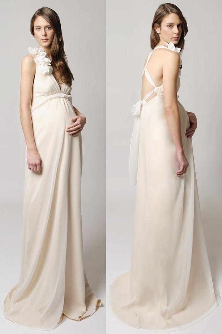 robe de mari e sexy pour femme enceinte encolure plongeante dos nu robe mari e. Black Bedroom Furniture Sets. Home Design Ideas