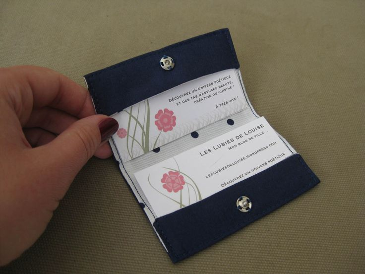 Tutoriel porte cartes de visite