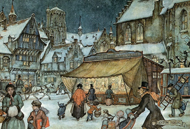 Christmas market by Anton Pieck
