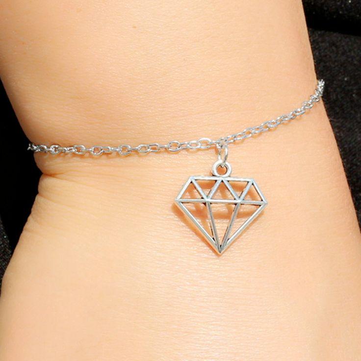 New Pulseira Bijoux Love Vintage Triangle Geometric Charm Chain Bracelet Bangle For Women Jewelry Girl Gift Bilezikler L214  #Affiliate