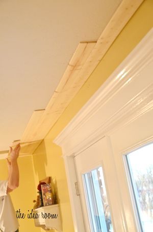 This shows a DIY project of how to create a planked ceiling! Love the idea for the kitchen