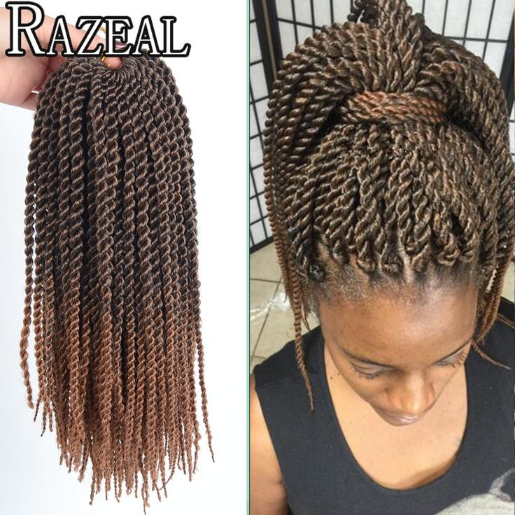 Razeal Short Senegalese Twist Crochet Braids Braided