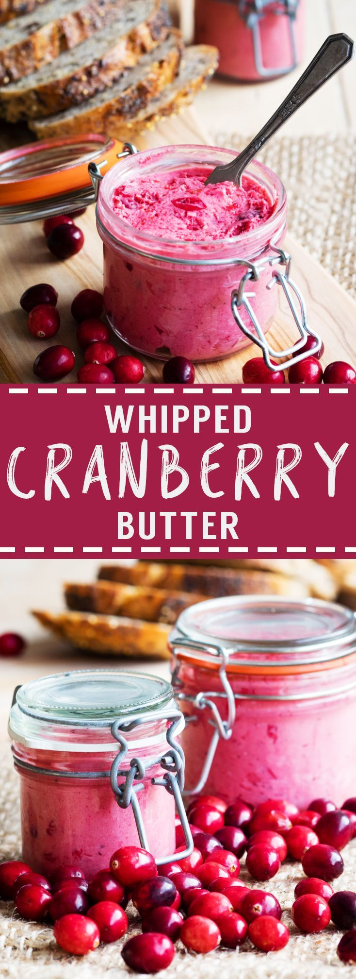 Whipped Cranberry Butter (GF) | The Worktop -- This tart and sweet Whipped Cranberry Butter is a simple condiment that adds a punch of flavor. Easy to make and a great way to use up leftover cranberries.