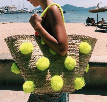 BOMBOM.MOROCCO Dot to Dot Basket available online on Boulesse