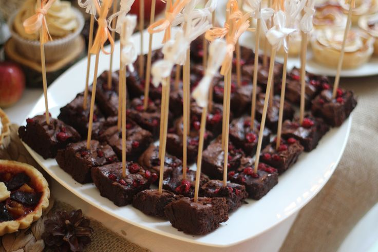 brownies with redcurrant sweet bar